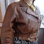 Одежда ручной работы. Ярмарка Мастеров - ручная работа куртка кожаная - косуха. Handmade.