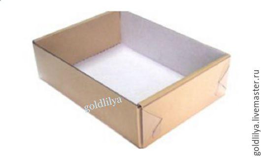 Упаковка ручной работы. Ярмарка Мастеров - ручная работа. Купить Коробка крафт с прозрачной крышкой 15х11х4,5 см. Handmade.