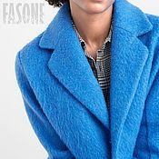"""Одежда ручной работы. Ярмарка Мастеров - ручная работа Шерстяное пальто голубое """"Sky"""" Пальто женское Пальто женское Пальто. Handmade."""