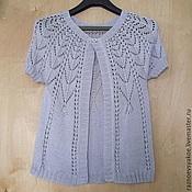 Одежда ручной работы. Ярмарка Мастеров - ручная работа Кофточка вязаная спицами. Handmade.