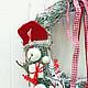 Новый год 2017 ручной работы. Новогодний венок. Cadeaux de Noёl. Интернет-магазин Ярмарка Мастеров. Скандинавский стиль