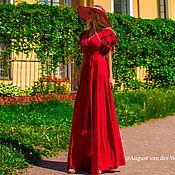 Одежда ручной работы. Ярмарка Мастеров - ручная работа Летнее платье на запахе,бордовая расцветка!. Handmade.