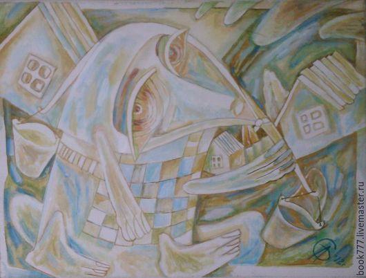 Символизм ручной работы. Ярмарка Мастеров - ручная работа. Купить Студеная водица. Handmade. Мятный, картина маслом, галерея работ