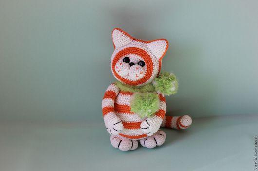 Игрушки животные, ручной работы. Ярмарка Мастеров - ручная работа. Купить Вязаный котик Апельсинка. Handmade. Рыжий, подарок, синтепух