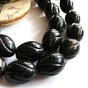 Материалы для творчества handmade. Livemaster - original item Beads horn Buffalo Carabao black 17h12mm. Handmade.