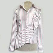 Одежда ручной работы. Ярмарка Мастеров - ручная работа Блузка в тонкую полоску. Handmade.