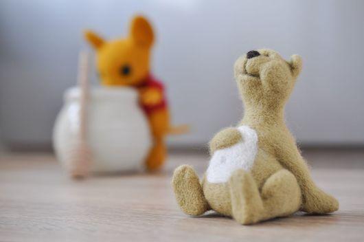 Игрушки животные, ручной работы. Ярмарка Мастеров - ручная работа. Купить Медведь Шалфей. Handmade. Оливковый, день рождения, медведь