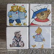 """Куклы и игрушки ручной работы. Ярмарка Мастеров - ручная работа кубики """"Морячок"""". Handmade."""