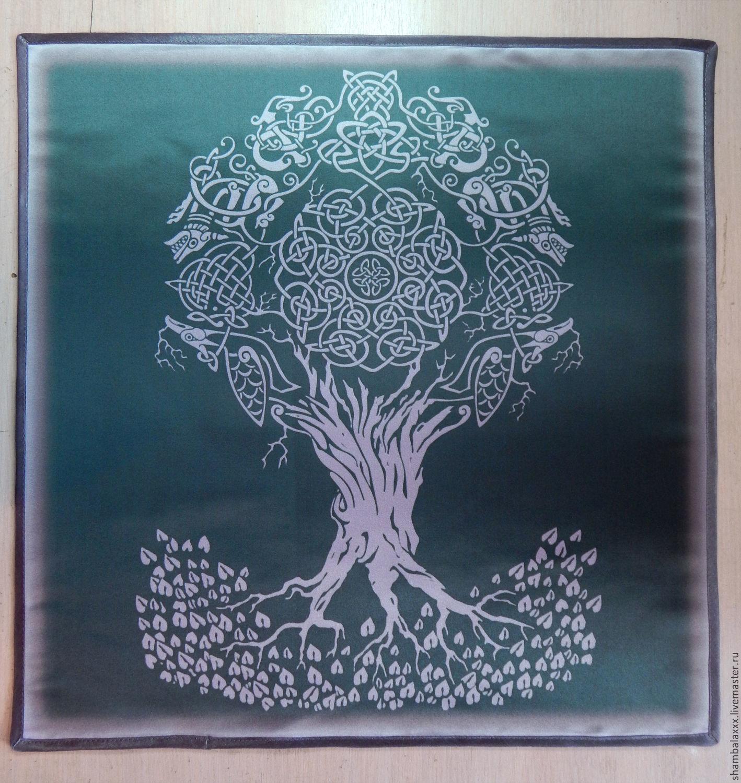 Altar cloth TREE of LIFE, Atlas-satin, printing fabric, Runes, Asha,  Фото №1