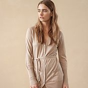 Одежда handmade. Livemaster - original item Women`s cashmere cardigan with buttons. Handmade.