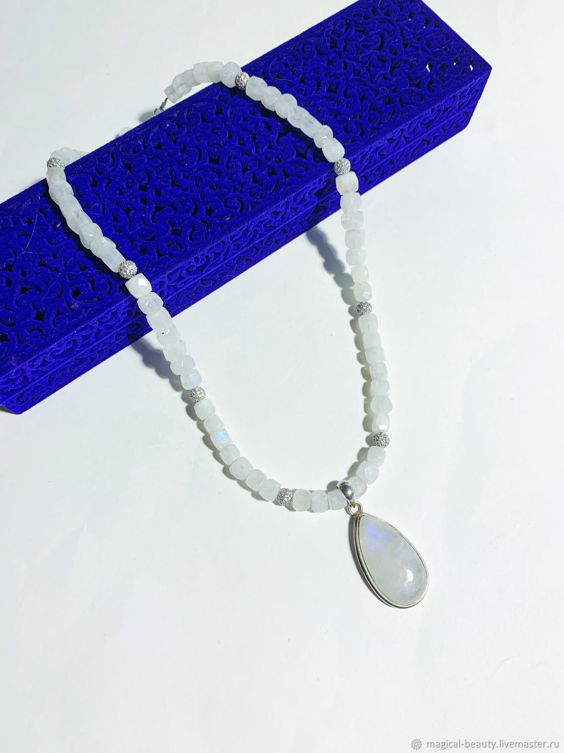 Necklace with natural adular in 925 silver, Necklace, Moscow,  Фото №1