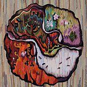 Картины и панно ручной работы. Ярмарка Мастеров - ручная работа Гобелен. Круговорот времени .Осень. Handmade.