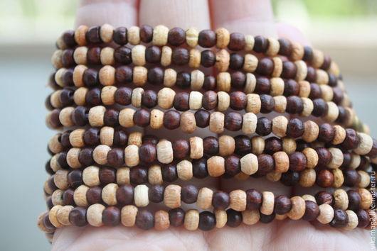 Для украшений ручной работы. Ярмарка Мастеров - ручная работа. Купить Бусины деревянные, нить 41 см, Индия. Handmade.