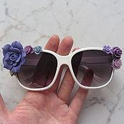 Аксессуары ручной работы. Ярмарка Мастеров - ручная работа Очки с розами солнцезащитные. Handmade.