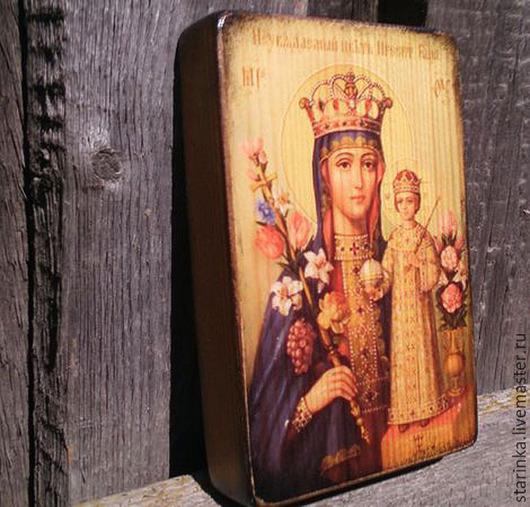 Иконы ручной работы. Ярмарка Мастеров - ручная работа. Купить Икона деревянная Икона Неувядаемый цвет. Handmade. Разноцветный