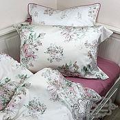 """Для дома и интерьера ручной работы. Ярмарка Мастеров - ручная работа Комплект постельного белья """"Розовый сад"""" полутораспальный. Handmade."""