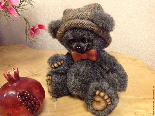 Мишки Тедди ручной работы. Ярмарка Мастеров - ручная работа. Купить Лаврик. Handmade. Коричневый, подарок девушке, бабочка на шею