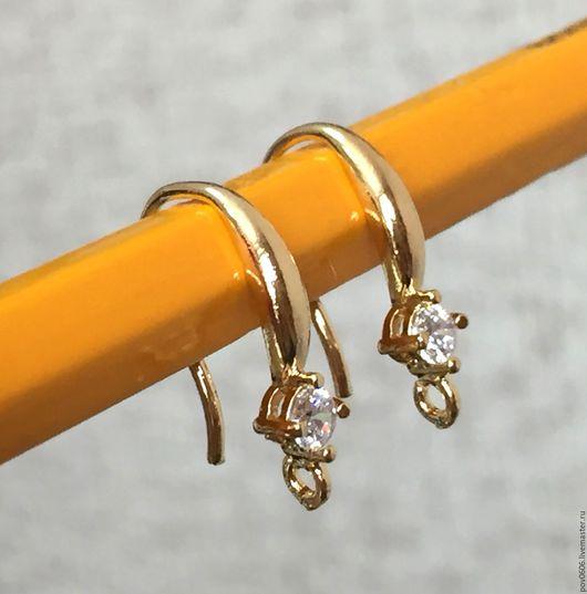 Для украшений ручной работы. Ярмарка Мастеров - ручная работа. Купить Швензы с цирконом в 2-х цветах (золото ,серебро). Handmade.