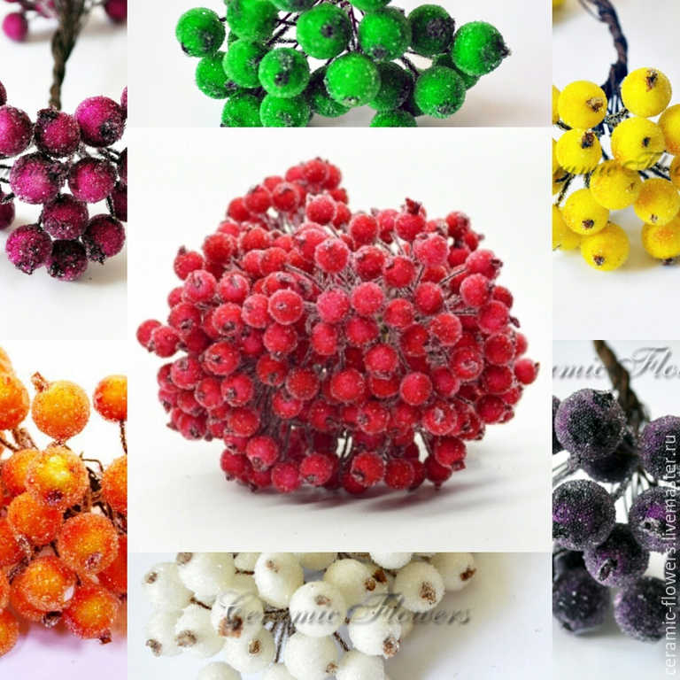 Decorative berries in sugar, Fruit  artificial, Rostov-on-Don,  Фото №1
