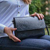 Сумки и аксессуары handmade. Livemaster - original item Bags: Bag women`s clutch bag leather blue Alita Mod S44t-661. Handmade.