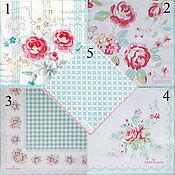 5 видов Салфетки Green gate Дания голубовато-розовые