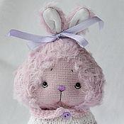 Куклы и игрушки ручной работы. Ярмарка Мастеров - ручная работа Фиолетовый зайка с бантиком. Handmade.