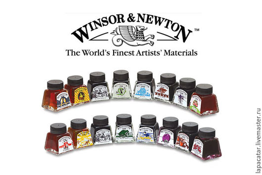 """Другие виды рукоделия ручной работы. Ярмарка Мастеров - ручная работа. Купить Тушь художественная """"Drawing Ink"""" WINSOR NEWTON. Handmade."""