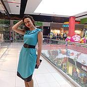 """Одежда ручной работы. Ярмарка Мастеров - ручная работа Женское платье 46 размер """"Лазурь"""". Handmade."""