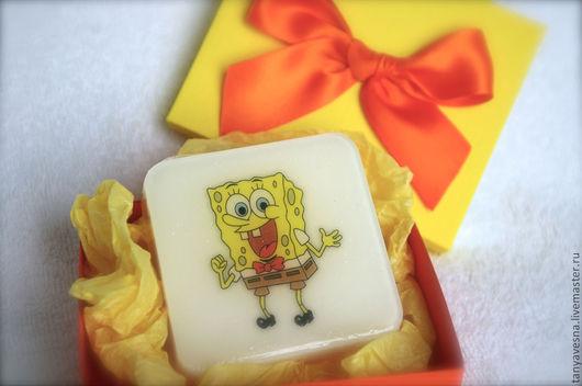 Приколы ручной работы. Ярмарка Мастеров - ручная работа. Купить Мыло Губка Боб, Sponge Bob, Спанч Боб в подарочной коробочке. Handmade.