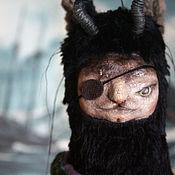 Куклы и игрушки ручной работы. Ярмарка Мастеров - ручная работа Авторская игрушка, Котолень Пират. Авторская кукла. Тедди кот олень. Handmade.