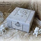 """Для дома и интерьера ручной работы. Ярмарка Мастеров - ручная работа Шкатулка """"Каменный цветок"""". Handmade."""