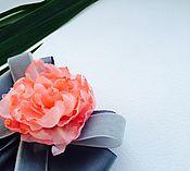 Украшения ручной работы. Ярмарка Мастеров - ручная работа Брошь Mali.Шелк и репсовые ленты. Handmade.