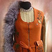"""Одежда ручной работы. Ярмарка Мастеров - ручная работа Жилет """"Рыжая осень"""". Handmade."""