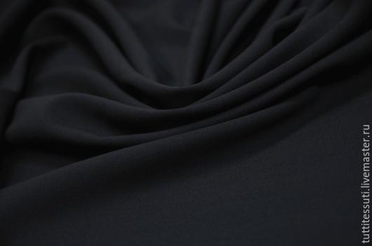 Шитье ручной работы. Ярмарка Мастеров - ручная работа. Купить Плательная ткань 04-003-2496. Handmade. Тёмно-синий