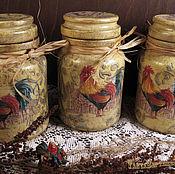 Для дома и интерьера handmade. Livemaster - original item Jars kitchen COCKS in PROVENCE. Handmade.
