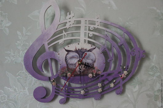 """Часы для дома ручной работы. Ярмарка Мастеров - ручная работа. Купить Часы настенные """"Музыка цветов"""". Handmade. Часы настенные"""