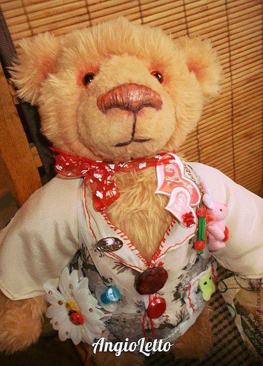 Мишки Тедди ручной работы. Ярмарка Мастеров - ручная работа. Купить Немецкий плюш медвежонок - тедди Теодор. Handmade. Коричневый