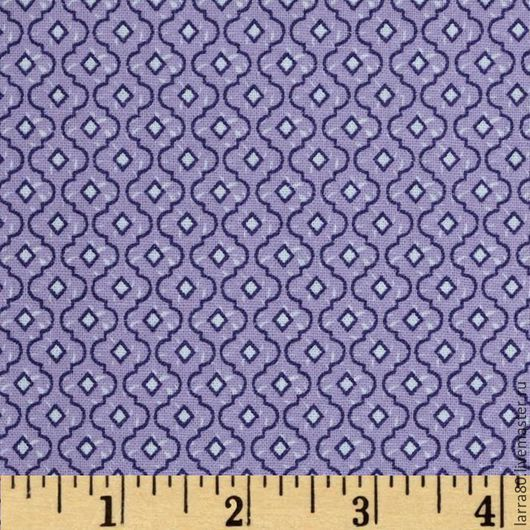 Шитье ручной работы. Ярмарка Мастеров - ручная работа. Купить Хлопок Dots and More Trellis Lavender США. Handmade.