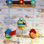 Для дома и интерьера ручной работы. Ярмарка Мастеров - ручная работа Мобиль Птички на ветке. Handmade.