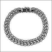 Украшения handmade. Livemaster - original item Silver bracelet Python, Italian. Handmade.