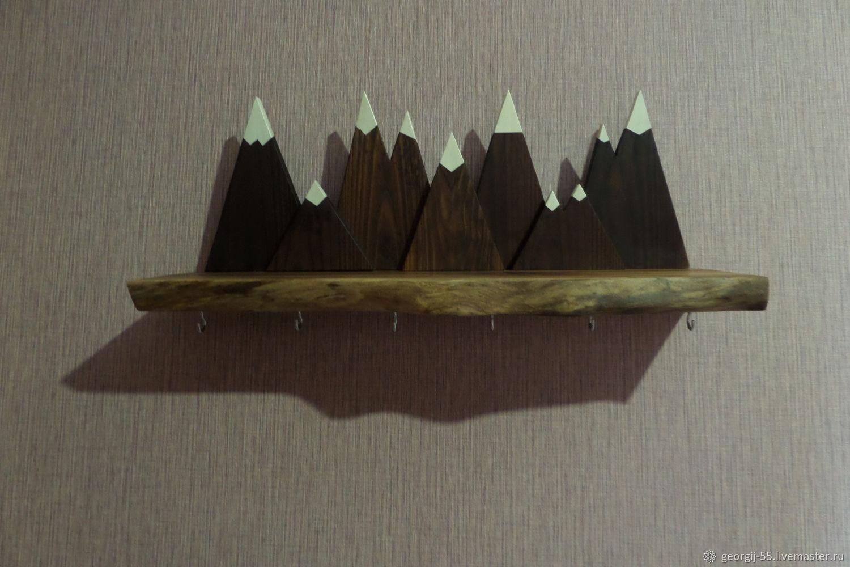 Ключница настенная из массива ореха и термобука, Ключницы настенные, Абакан,  Фото №1