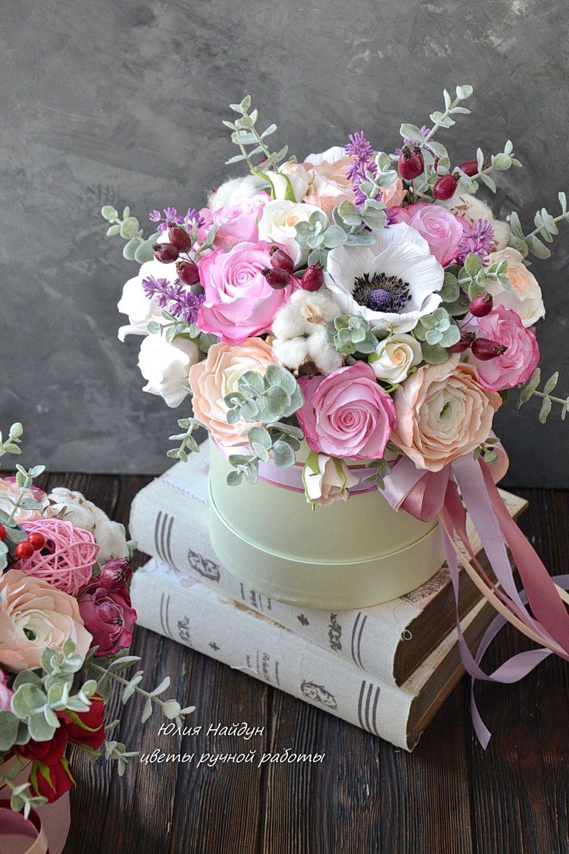 Фото цветы в шляпной коробке