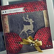 Открытки handmade. Livemaster - original item Greeting card with deer. Handmade.