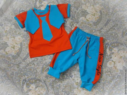 """Одежда для мальчиков, ручной работы. Ярмарка Мастеров - ручная работа. Купить Комплект для малыша """"New Style"""" от Делавьи. Handmade. Рисунок"""
