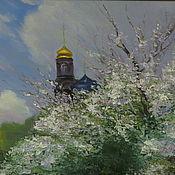 Картины и панно ручной работы. Ярмарка Мастеров - ручная работа Ожидание хороших перемен или сад перед грозой. Handmade.