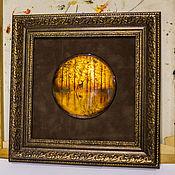 Панно ручной работы. Ярмарка Мастеров - ручная работа Панно: Картина Лесной олень. Handmade.