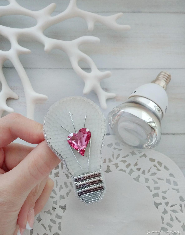 Brooch 'Light bulb' or 'light the heart', Brooches, Poltava,  Фото №1