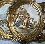 Винтаж ручной работы. Ярмарка Мастеров - ручная работа Набор из 4 картинок. Handmade.