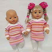 Одежда для кукол ручной работы. Ярмарка Мастеров - ручная работа Платье и колготки для куклы. Handmade.
