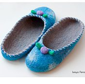 Обувь ручной работы. Ярмарка Мастеров - ручная работа Войлочные тапочки. Handmade.